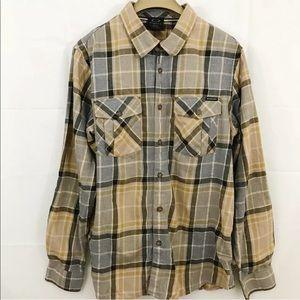Oakley Plaid Button Front Long Sleeve Shirt
